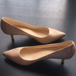 Nine West heels - Nydia - Size 10M - Nude